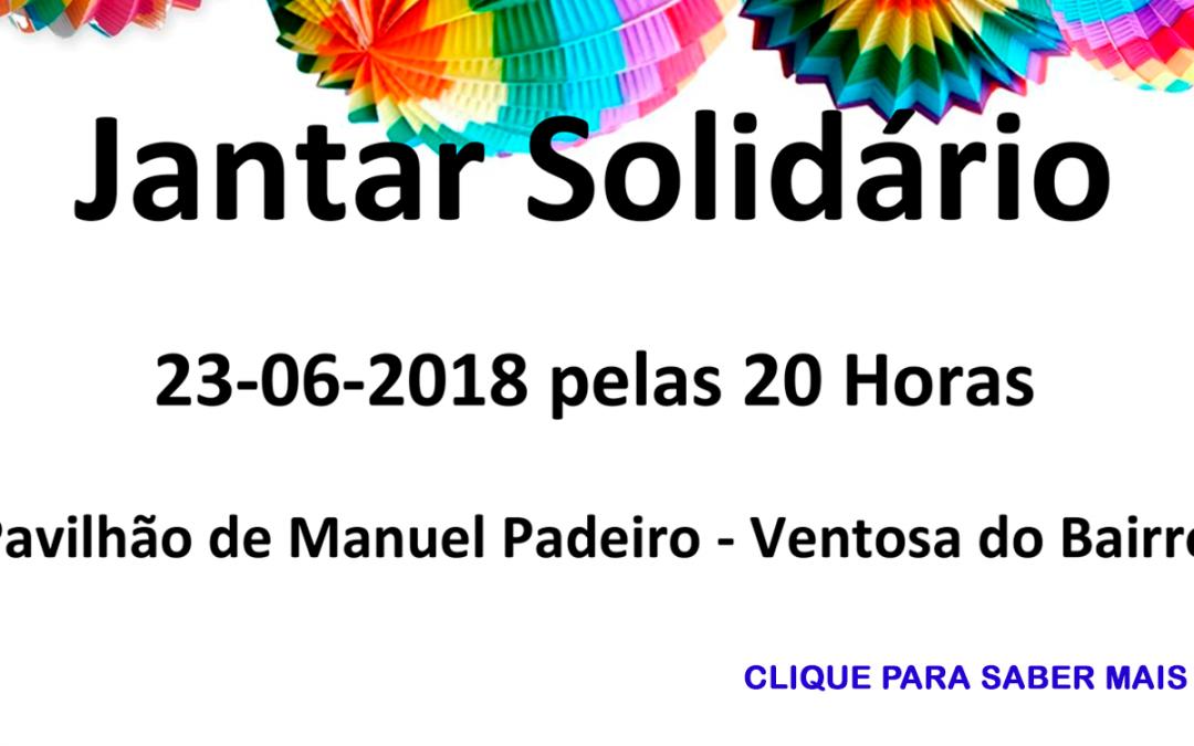 Jantar Solidário – 23 de junho de 2018